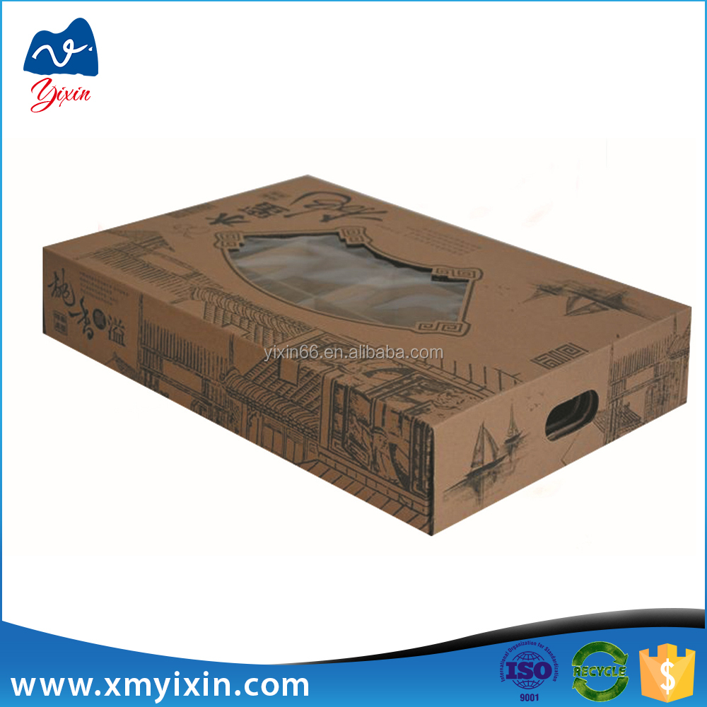 Fruits and vegetables paper packaging corrugated carton box