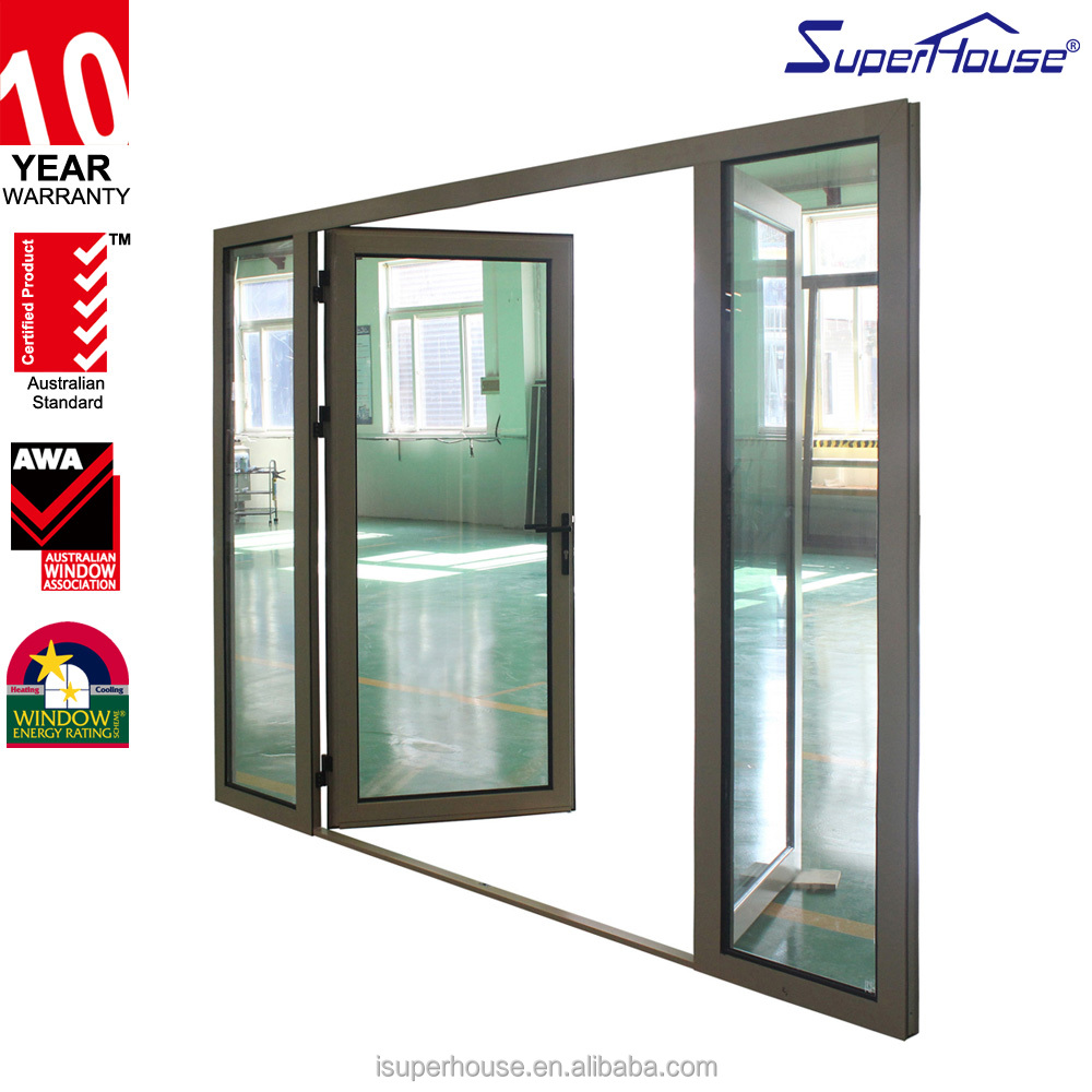Australia Standard and CSA standard Double glass Aluminium casement door
