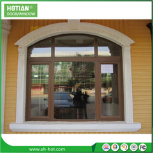 PVC Arched Top Window Round Design Swing Casement Window With Grilles Window Solar
