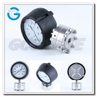 High quality polypropylene case diaphragm seal pressure gauge
