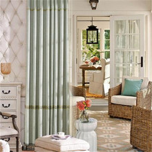 simple design plain oriental fabric polyester ready made Austrian curtains