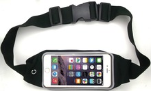 Fashion Universal Running Waist Belt for iPhone 6/6S,6/6S Plus,Galaxy S5,S6,Note 4/5 w/ OtterBox/LifeProof Cases (Black)