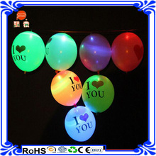 Hot sale Customized colourful LED ballon light up led ballon yellow led glowing falshing balloons wedding decoration
