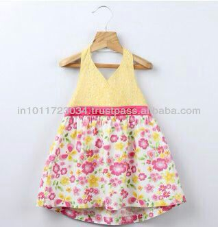 COTTON BABY FROCKS WITH FLOWER