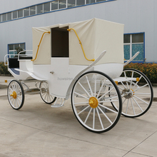 Old staged horse carriage with canopy