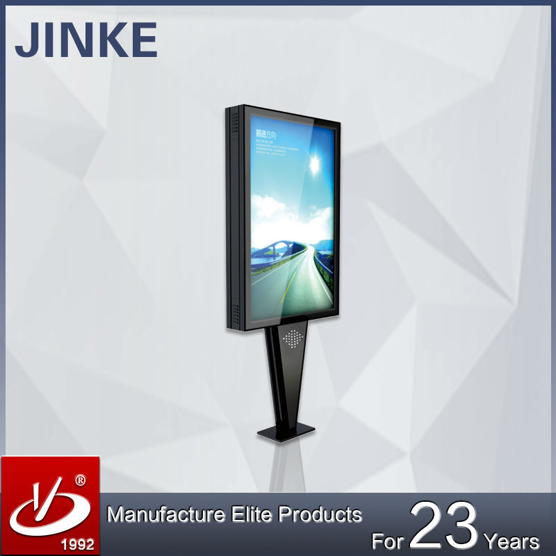 JINKE aluminum profile material rectangle shape outdoor scrolling light box LED Back-lit with 23 years experience