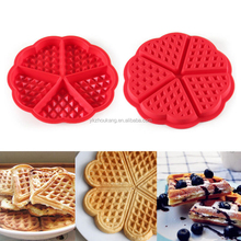 silicone bakeware love heart cookie mold silicone waffle mold 5 cavity cake mold
