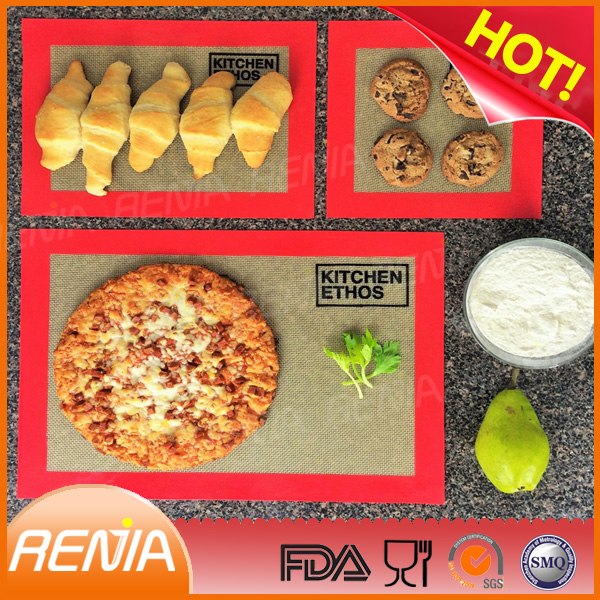 RENJIA ground mat heat pad sheet bpa free fiberglass silicone baking mat