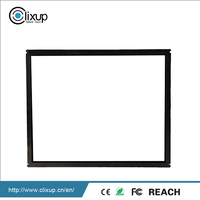 Compact structure ir multi touch screen overlay kit frame