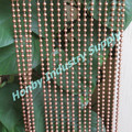 Home Decoraitve 6mm Copper Coloured Hanging Metal Beaded Partition