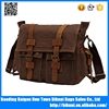 New designer hot sale custom logo crazy horse canvas bag for men