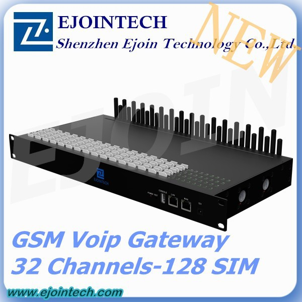 Hot Sale GoIP 32-128 !! Ejointech 32 channel 128 sim GSM gateway with toll free number