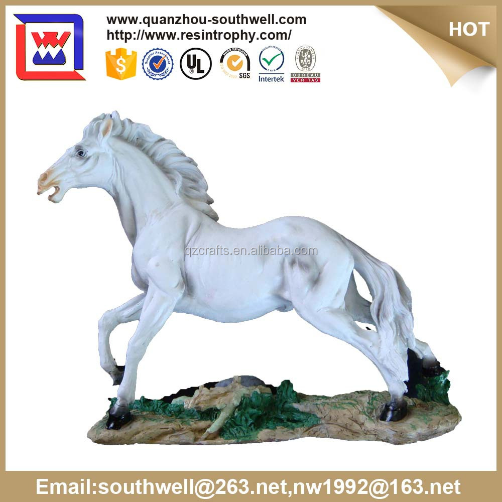 White Home Decorative Resin Horse and Collectible Figurines Wild horse for sale