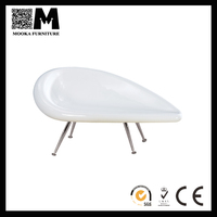 white chaise lounge chairs indoors, designer replica modern fiberglass la chaise leisure,la chaise chair 2016 hot sale