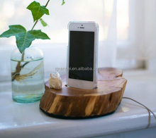 Custom logo rustic wooden mobile phone charged holder cell phone holder