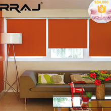 RRAJ Solar Power Folding Window Shades with Tubular Motor