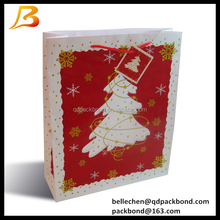 Popular design hot sale christmas style paper gift bag