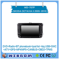 car navigation for SKODA OCTAVIA II 2005 2006 2007 2008 2009 2010/OCTAVIA III 2005-2010/FABIA/SUPERB dvd player android 2 din CE