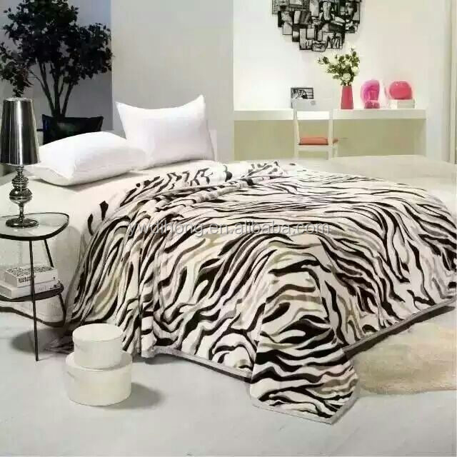 animal printing display recyle travel knitted polar fleece winter blanket for Africa market