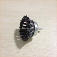 Wire brush (cup) for drill, crimped wire, 75mm