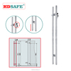 Stainless steel double handle sliding glass door lock