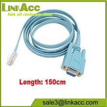 ThDB9Tmlt 1.5M RJ45 Male to 9 Pin RS232 RS-232 DB9 Female Plug LAN Router Cable connector