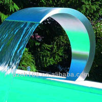 Stainless Steel 304 Swimming Pool Waterfall Water Curtain Cascade For Home Decoration