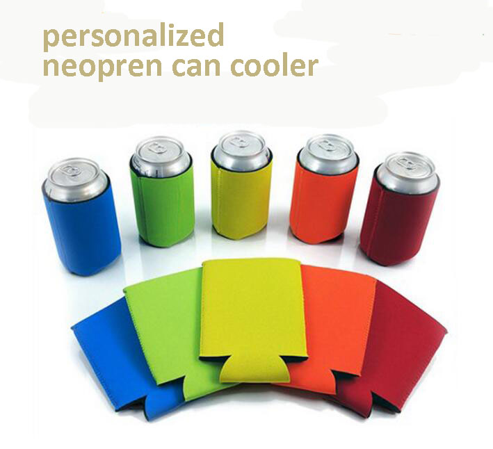 Insulated advertising Neoprene Beverage Holders foam can cooler holder neoprene bottle holder