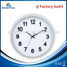 Modern home decorative 3D number wall clock with Color dial/home goods wall clocks