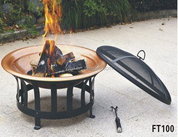 30 Inch Cooper Effect Steel Round Fire Pit