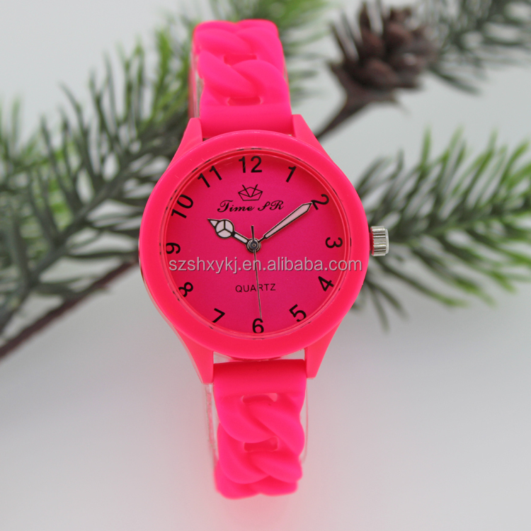 2015 New Arrival Quartz Geneva Silicone Watch Women Wrist Watch