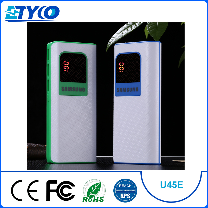 High capacity three USB ports LED display power bank 20000mah with FCC <strong>CE</strong> and ROHS