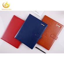 Custom Business PU Leather Organizer A5 A4 Portfolio File Zipper Folder