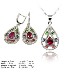 SZ2-0002 Earring and Pendant Jewelry Set Cheap 925 Silver Jewelry Settings and Mountings