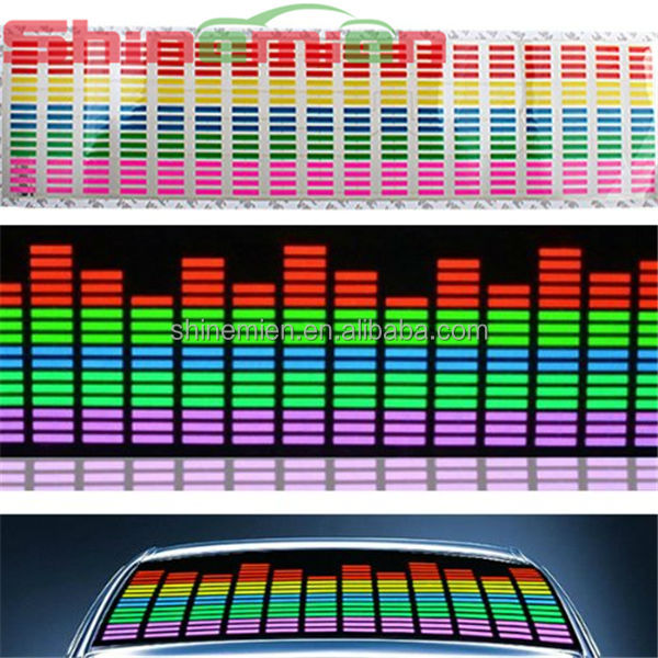 EL Car Stickers Sound music Activated sticker / equalizer glow light