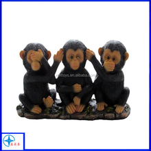 Little Chimps Statues Figurine for African Jungle Safari Decor Sculptures,animals statue