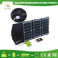High quality 5v 19.5w solar panels for backpacking