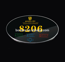 Hot selling digital hotel room door number plate with 5 diapaly content and doorbell ico