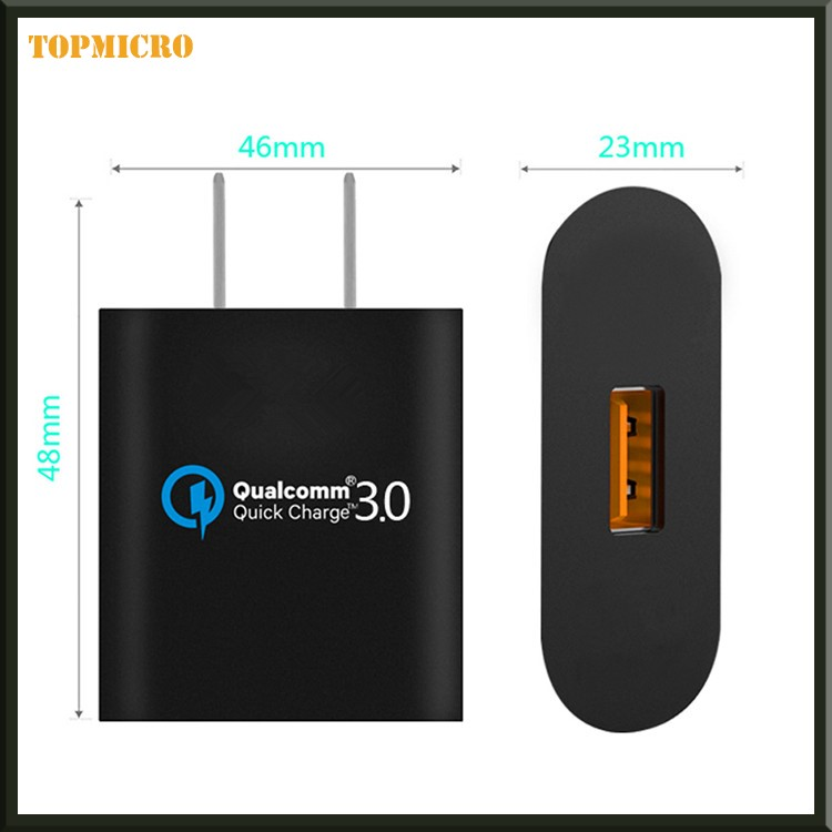 Portable USB Battery Adapter Quick Charge QC3.0 With USA Socket Charger for iphone Android
