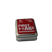 Small Portable First Aid Tools Metal Packaging Tin Box