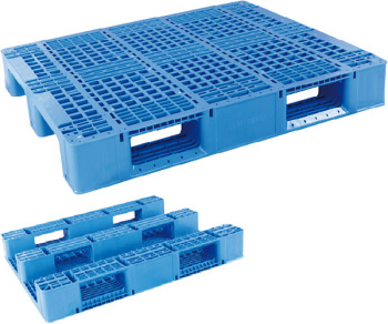 1200*1000mm Heavy Duty Plastic Pallet Transport Pallets With Metal Bar