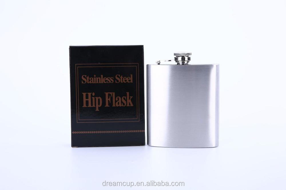 Custom stainless steel hip flask,7oz stainless steel flask