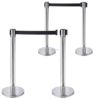 Different colors and textures stainless steel pole retractable belt stanchions