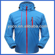 Wholesale mens winter double layer waterproof breathable fishing jacket