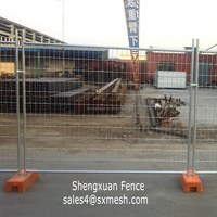 Temporary fence stand / temporary security fencing fence panel / welded wire mesh fence panels in 6 gauge /