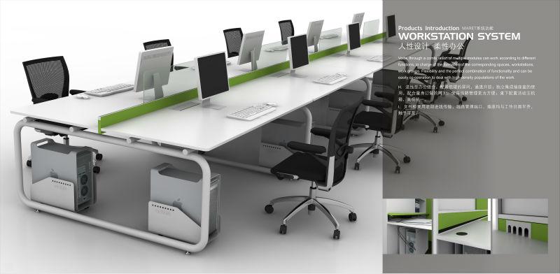 Escritorios de oficina de melamina modern conjunto for Dimensiones escritorio oficina