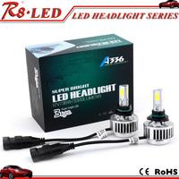 2016 New arrival 3 cob 3300lm 6000K led headlight A336 9005 car led headlight led headlight bulb
