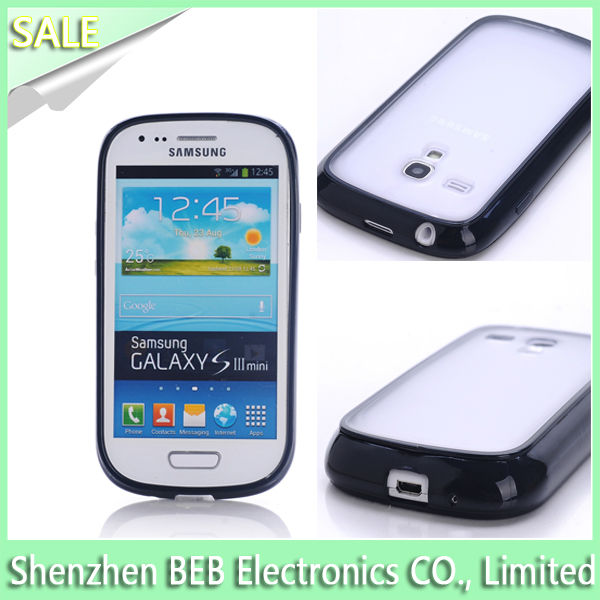 Portable case for galaxy s3 mini with best TPU&PC material