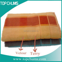 Terry sheared Terry velour bath towels 100% cotton