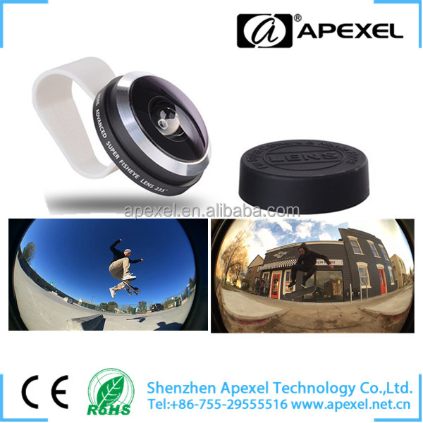 Apexel photographic lenses high quality 235 super fisheye lens , Optical glasses lenses fisheye